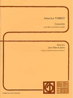 Maurice Thiriet - Concerto - Piano flute - Sheet Music - di-arezzo.co.uk