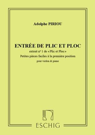 Adolphe Piriou - Plic and Ploc n ° 1: Entrance of Plic and Ploc, op. 35 - Sheet Music - di-arezzo.com