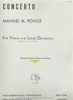 Concerto Violon - Manuel Ponce - Partition - Violon - laflutedepan.com