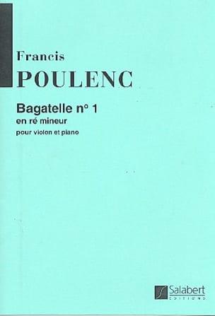 Bagatelle N° 1 Ré Mineur POULENC Partition Violon - laflutedepan