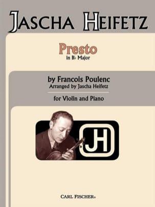 Francis Poulenc - Presto in B flat - Partition - di-arezzo.fr