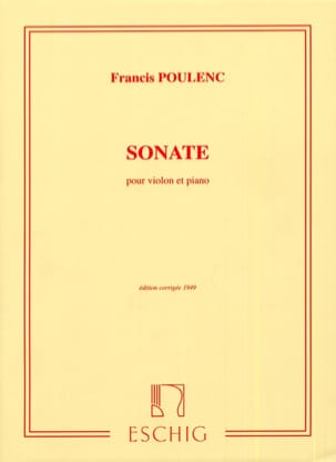 Sonate POULENC Partition Violon - laflutedepan