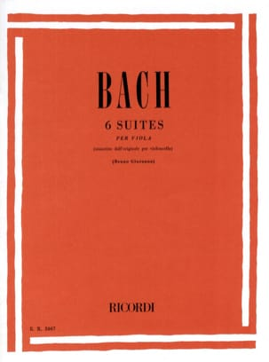 BACH - 6 Suites - transcribed for Alto Giuranna - Partition - di-arezzo.co.uk