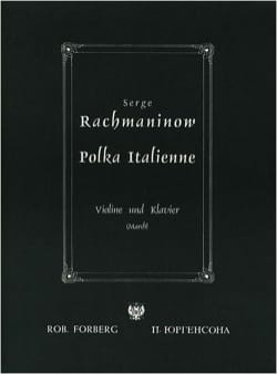 RACHMANINOV - Polka italienne - Partition - di-arezzo.fr