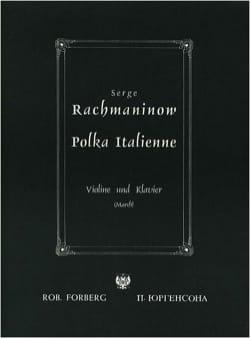 Polka italienne RACHMANINOV Partition Violon - laflutedepan