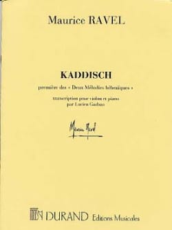Maurice Ravel - Kaddisch - Violin - Sheet Music - di-arezzo.co.uk
