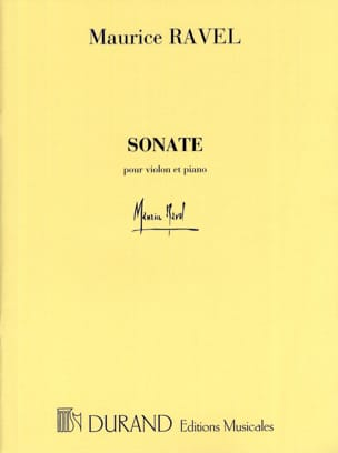 Maurice Ravel - Sonate – Violon et piano - Partition - di-arezzo.fr