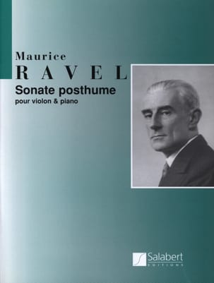 Sonate posthume RAVEL Partition Violon - laflutedepan