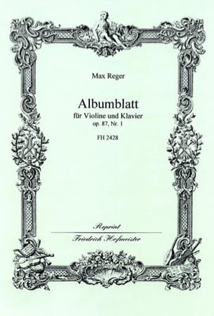 Max Reger - Albumblatt op. 87 n ° 1 - Sheet Music - di-arezzo.co.uk