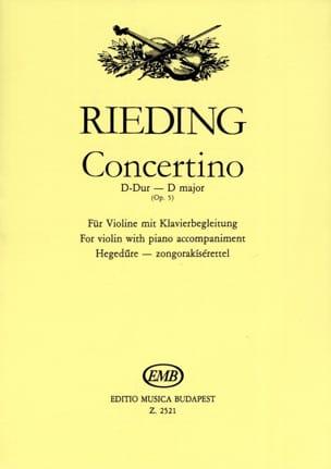 Oskar Rieding - Concertino op. 5 D-Dur - Sheet Music - di-arezzo.com