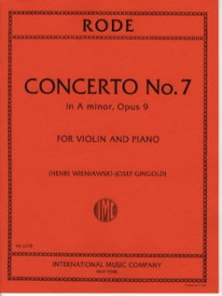 Rode Pierre / Wieniawski - Concerto n° 7 op. 9 la mineur - Partition - di-arezzo.fr