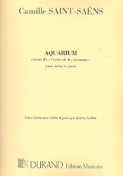 Camille Saint-Saëns - Aquarium - Sheet Music - di-arezzo.com