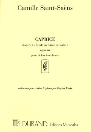 Camille Saint-Saëns - Caprice according to the Waltz Study op. 52 - Sheet Music - di-arezzo.com