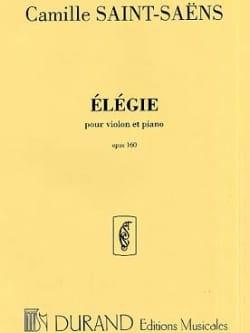Camille Saint-Saëns - Elégie op. 143 - Partition - di-arezzo.fr