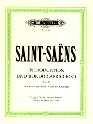 Camille Saint-Saëns - Introduction et Rondo Capriccioso op. 28 - Partition - di-arezzo.fr