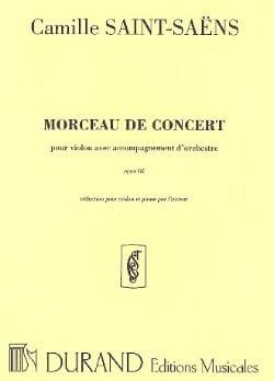 Camille Saint-Saëns - Morceau de concert op. 62 - Partition - di-arezzo.fr