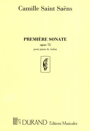 Camille Saint-Saëns - Sonata No. 1 op. 75 - Sheet Music - di-arezzo.co.uk