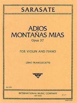Adios montanas mias op. 37 - Pablo de Sarasate - laflutedepan.com
