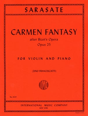Pablo de Sarasate - Carmen Fantasy op. 25 - Sheet Music - di-arezzo.co.uk