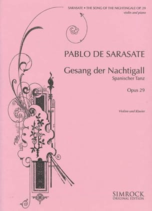 Pablo de Sarasate - The song of the nightingale op. 29 - Sheet Music - di-arezzo.co.uk
