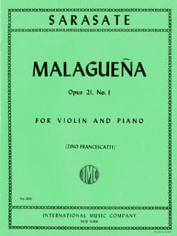 Pablo de Sarasate - Malaguena op. 21 n ° 1 - Sheet Music - di-arezzo.co.uk