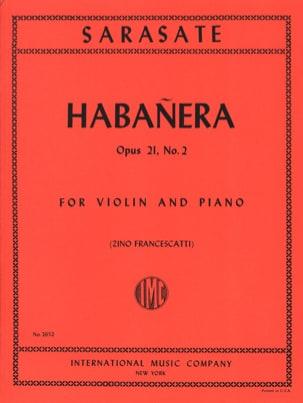 Pablo de Sarasate - Habanera op. 21 n ° 2 - Sheet Music - di-arezzo.com