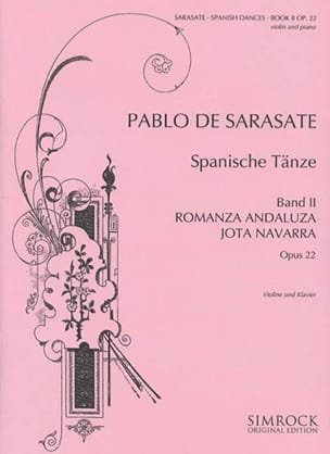 Pablo de Sarasate - Spanish Dances Opus 22 Volume 2 - Partition - di-arezzo.co.uk