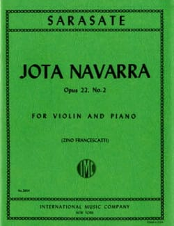 Jota Navarra op. 22 n° 2 - Pablo de Sarasate - laflutedepan.com