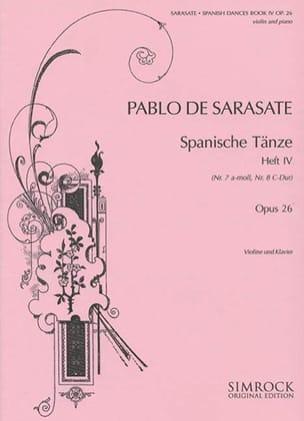 Pablo de Sarasate - Danses espagnoles op. 26 - Volume 4 - Partition - di-arezzo.fr