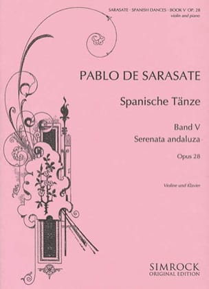 Danses espagnoles op. 28 - Volume 5 SARASATE Partition laflutedepan