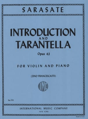 Pablo de Sarasate - Introduction and Tarantella op. 43 - Sheet Music - di-arezzo.com
