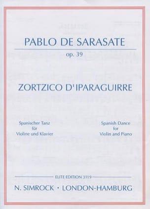 Zortzico d'Iparaguirre op. 39 - Pablo de Sarasate - laflutedepan.com
