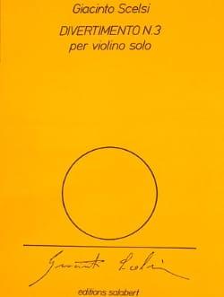 Giacinto Scelsi - Divertimento n° 3 - Partition - di-arezzo.fr