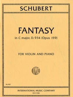 Franz Schubert - Fantasia in C major D 934 - op. 159 - Partition - di-arezzo.fr