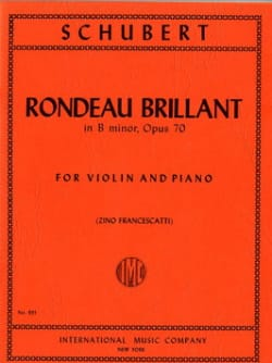 SCHUBERT - Rondeau brillant in B minor op. 70 - Sheet Music - di-arezzo.co.uk