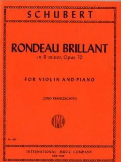 SCHUBERT - Rondeau brillant en si menor op. 70 - Partitura - di-arezzo.es