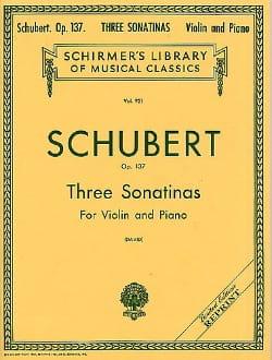 SCHUBERT - 3 Sonatinas op. 137 - Partition - di-arezzo.fr