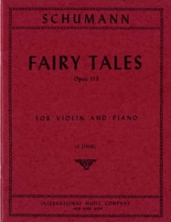 Robert Schumann - Fairy Tales op. 113 – Violin - Partition - di-arezzo.fr