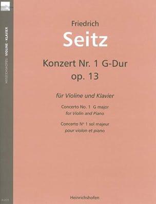 Concerto en sol majeur, op. 13 Friedrich Seitz Partition laflutedepan