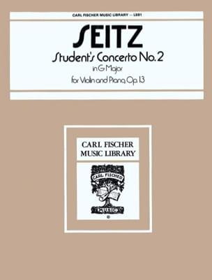 Student's Concerto n° 2 op. 13 in G major Friedrich Seitz laflutedepan