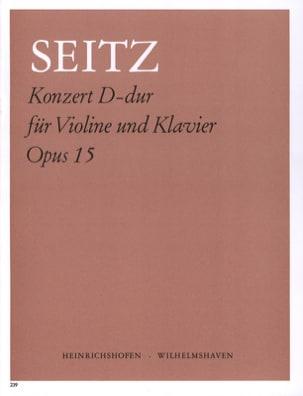 Konzert D-Dur op. 15 Friedrich Seitz Partition Violon - laflutedepan