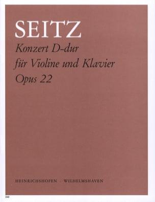 Konzert D-Dur op. 22 Friedrich Seitz Partition Violon - laflutedepan