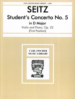Friedrich Seitz - Student's Concerto No. 5 op. 22 in D major - Sheet Music - di-arezzo.com