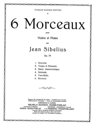 Jean Sibelius - Berceuse op. 79 n° 6 - Partition - di-arezzo.fr