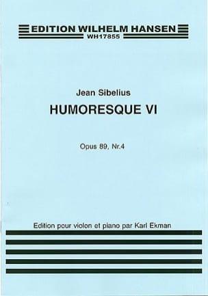 Jean Sibelius - Humoresque 6, op. 89 n° 4 - Partition - di-arezzo.fr