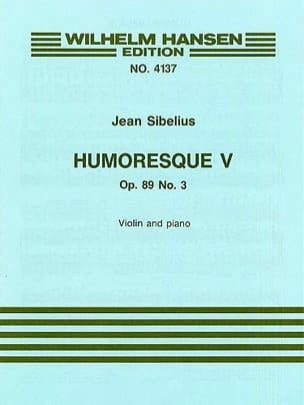 Jean Sibelius - Humoresque 5, op. 89 n ° 3 - Partition - di-arezzo.co.uk
