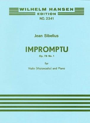 Impromptu op. 78 n° 1 SIBELIUS Partition Violon - laflutedepan