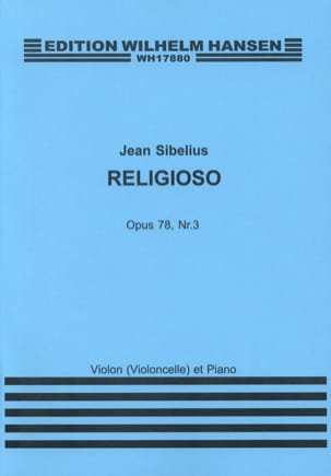 Jean Sibelius - Religioso op. 78 n° 3 - Partition - di-arezzo.fr