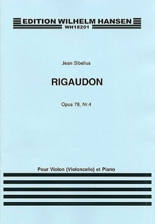Jean Sibelius - Rigaudon op. 78 n° 4 - Partition - di-arezzo.fr
