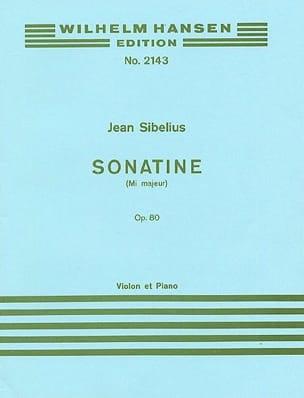 Sonatine en Mi majeur op. 80 SIBELIUS Partition Violon - laflutedepan